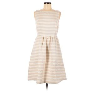 Lilly Pulitzer Eryn Cameo White Gold Stripe Dress